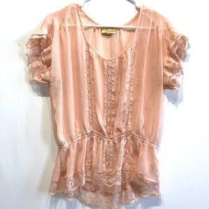 Vera Wang Shirt Pink